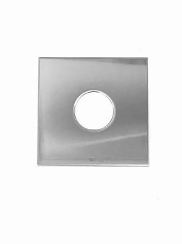 Abdeckplatte Edelstahl 100 x 100 x 2mm mit mittiger 35mm Bohrung