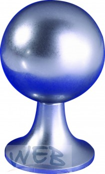 Ziermutter verchromt zu Keramiksäule Kugel-Form 26 x 47 mit Gewin