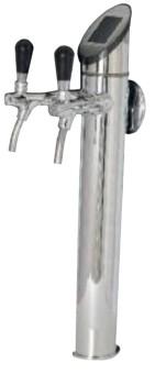Zapftower ECO 2-ltg glänzend Edelstahl vorbereitet für MikroTouch