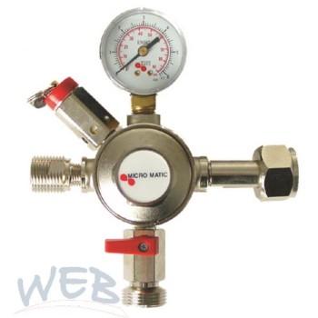 Anbauarmatur CO2, 4bar, Micro Matic   PREMIUM,Abg. G1/2 AG links