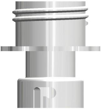 Reinigungsadapter Kunststoff CC BIB - Tank weiß