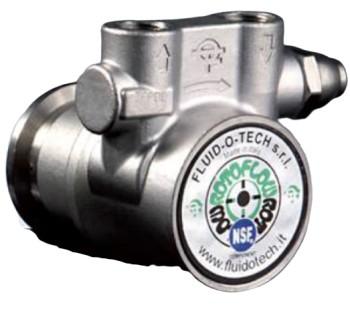 """Fluid-o-Tech-Pumpe, 300 Liter, Edelstahl, 2 x IG 3/8""""+Plastikkupp"""