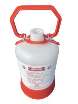 Reinigungscontainer Kunststoff / 5 Liter / Flachfitting