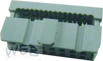 Pfostenverbinder 16-polig / schwarz (Buchsen-Krimp-Stecker f.Flac