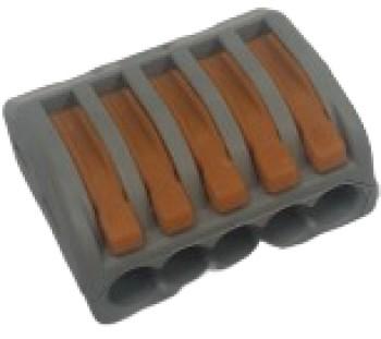 Wago Verbindungsklemme / 5-Leiter-Klemme, mit Betätigungshebeln
