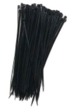 Kabelbinder Polyamid 200mm x 3,5mm schwarz, Belastbarkeit 15kg,