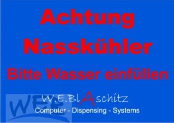 "Aufkleber "" Achtung Nasskühler """