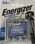 ENERGIZER Lithium Batterie, AA (Mignon), 3000 mAh, 4er-Pack