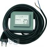 *WEB* Versorgungstrafo 230V/ 24V/ 60VA vergossen mit Thermoschutz