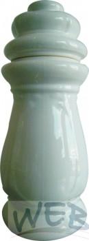 """Keramikkörper """"Barock"""" weiß"""
