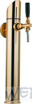 Zapftower GRAZ Edelstahl-vergoldet mit Distanzteilen