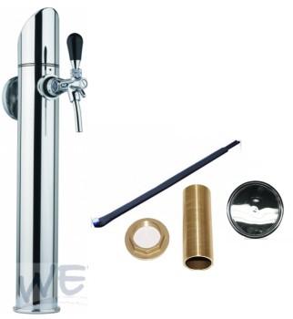 Zapftower GRAZ glänzend / Verwendungsfertig inkl. Zapfhahn