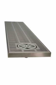 Overcounter Driptray with glass rinser  600 mm x 220 mm