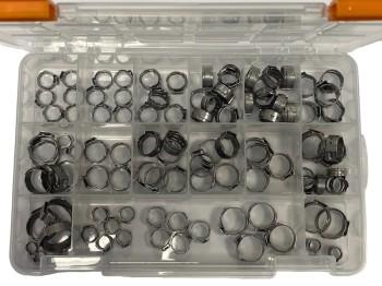Oetiker 1-Ear Clamp Assortment Box / 100 pcs. 5,8-19,2R