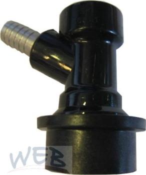 Steckkupplung NC Getränk (schwarz) mit 10mm Tülle
