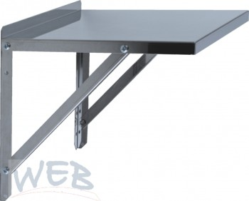 Console with stainless steel plate 43 x 55 cm