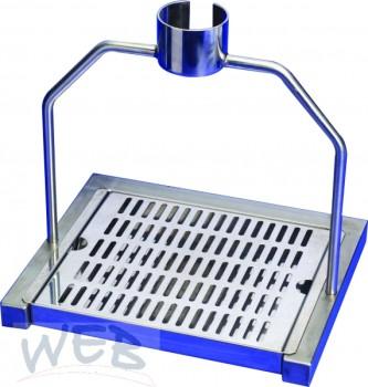 Ständer für All-Bottle-Ausgabering mit Tropftasse / Material Edel