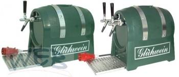 Glühweinerhitzer 3KW / 1-ltg / + Luftkompressor / Fassform