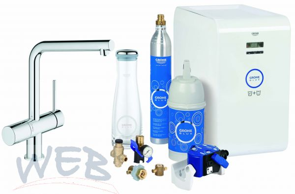 grohe blue minta chilled and sparkling starter paket. Black Bedroom Furniture Sets. Home Design Ideas