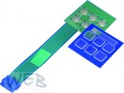 Membrane switch FT6, 50 mm x 50 mm