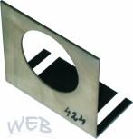 Montageblech für Flowmeter oder  für 424 Flomatic zu Schankkopfge