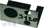 Montageblech für ODL-Schankhahn-links zu Schankkopfgehäuse SAFE