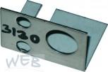 Montageblech für ODL-Schankhahn-rechts zu Schankkopfgehäuse SAFE