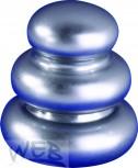 Ziermutter verchromt zu Keramiksäule 3-Ring-Form 28 x 30 mit Gewi