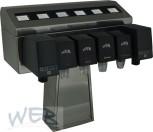 Zapfsäulenoberteil für 6 Mikro-Touch + 6 Hähne mit Aufbausatz