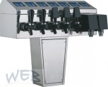 Zapfsäulenoberteil für 8 Mikro-Touch + 8 Hähne mit Aufbausatz