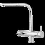 3-Wege-Armatur geeignet für Sodawasser und Kalt- und Warmwasser