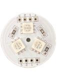 SMD LED-Platine rund Ø 26mm / 3x Fullcolor / 12VDC 50mA