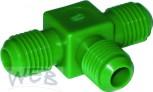 Adapter T-Stück AG7/16UNF  Kunststoff Farbe GRÜN