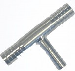 Stainless Steel Barbed Fitting Tee 10-7-10 mm