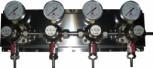 Zwischendruckreglerstation MM 4-fach, mit Edelstahl- Wandblech