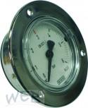 Einbaumanometer 0-10/7 bar, incl.Verschr.