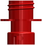 Reinigungsadapter Kunststoff CC BIB - Tank rot
