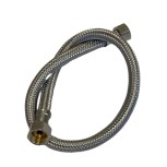 "Wire fabric hose EPDM DN8 stainless steel 3/8"" - 3/8"" / 50cm"