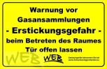CO2 - Warnhinweisschild