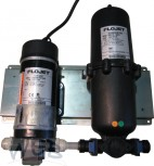Water booster system including pump and accumulator (1l)